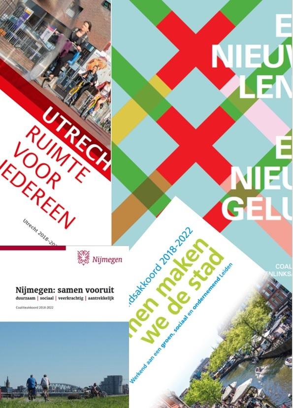 Coalitieakkoorden Amsterdam Leiden Utrecht Nijmegen
